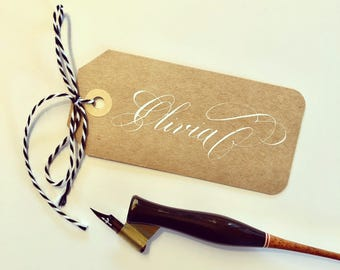 Personalized Copperplate Calligraphy Gift Tags