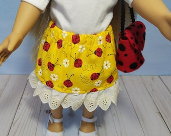 18 Inch Doll Clothes-Skirt and matching purse