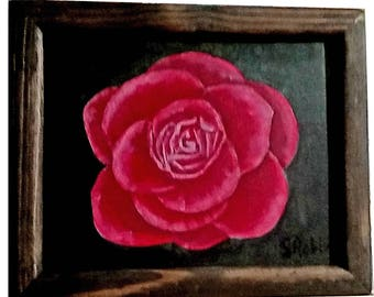 Rose with frame