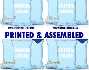 Custom Design 24 Printed and Assembled Chip Bags W/Ziploc