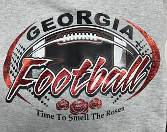 UGA Rose Bowl SVG File
