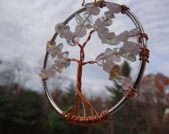 Wire-wrapped Tree of Life Suncatcher  (3 inch)