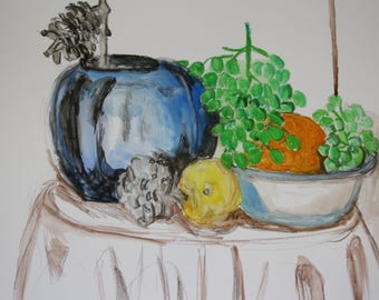 Original painting still life with a vase