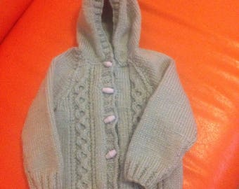 Baby boy sweater hand knitted