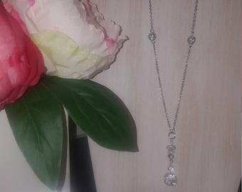 Custom handmade crystal necklace