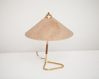 Vintage table Lamp 50s Brass Schlaufenfuß mid century 50s table lamp