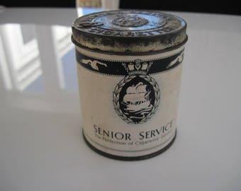 Senior Service Cigarette Tin (50/empty) by J.A. Pattreiouex Ltd c.1950