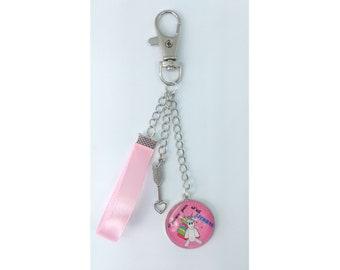 Key chain I can't I Unicorn