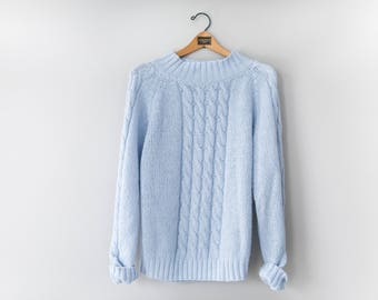 Powder blue sweater | Etsy