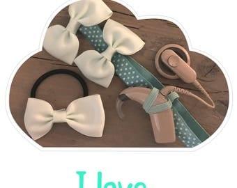 Headband I love Sea Green