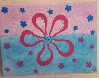 Flowers Pink/Blue