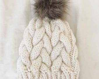 Braided Cable Beanie | Fisherman
