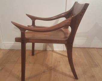 Sam Maloof style low back chair