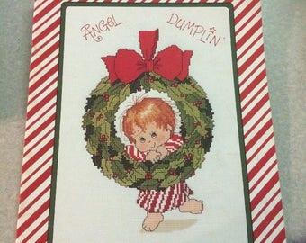 Designs by Gloria & Pat Angel Dumplin Cross Stitch Pattern Chart Leaflet 1983 Great Condition