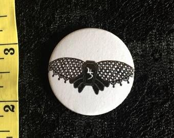 Sopor Aeternus 38mm moth pin badge