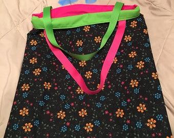 Handmade Reversible Flower Bag