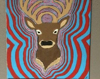 Original Bassnectar Deer Painting