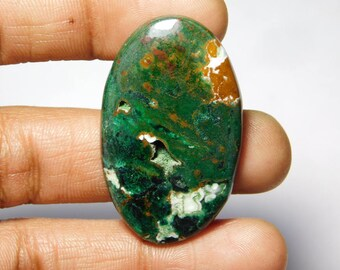 Top quality Druzy Chrysocolla gemstone Cabochon Very Gorgeous looking Excellent Quality handmade Gemstone Top quality 64.15cts (43x26x5)mm