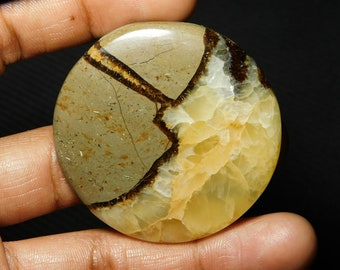 AAA quality Septarian Cabochon,Loose Stone,Gemstone,Gorgeous Septarian Cabochon Excellent Gemstone 100%Natural 143.00cts.(51x51x5)mm