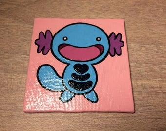 Pokemon Magnet - Wooper - Canvas Panel