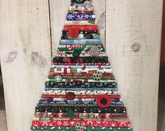Fabric Christmas tree decor