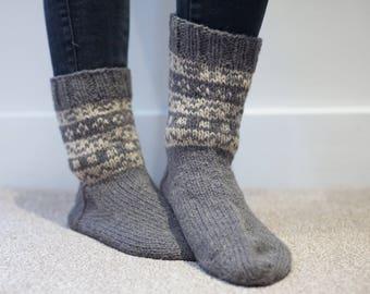 Handmade warm wool socks