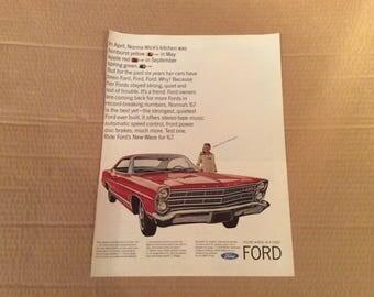 1967 Ford car ad