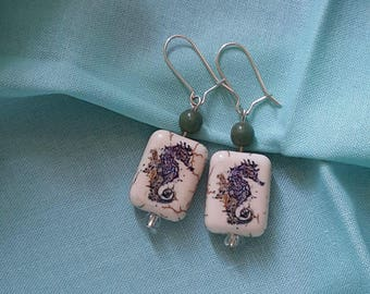Dangle Seahorse Earrings