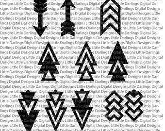 Arrow Shape SVG Cut File for Leather Earrings