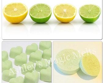 5 Lemon and lime wax melts, fruity wax melts, wax cubes, cheap wax melts, strong wax melts, highly scented wax melts, citrus wax tart melt