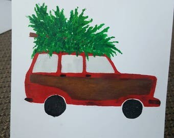 Christmas Card: Station Wagon