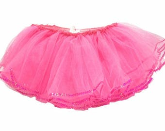 CLEARANCE BOUTIQUE Hot Pink Sequin Birthday Tutu 6m-24m