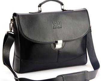 Men's leather briefcase 0005B
