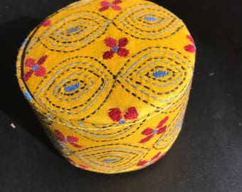Hand embroidered bangle box
