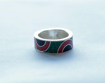 Inlay Ring for men.