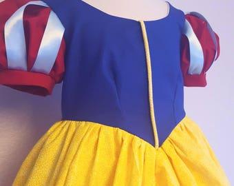 Snow White // Children's Fairy Tale Dress // Handmade // Sizes 3,4,5,6,7,8,10,12