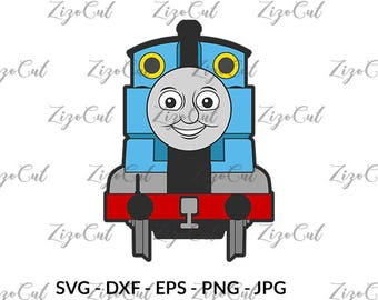 Thomas The Train SVG, thomas the train clipart, Cricut svg, Silhouette, digital download.