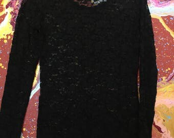 Long sleeved lace shirt