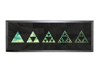Triangle Fractals (Printable Science Art - Panoramic - Instant Digital Download)