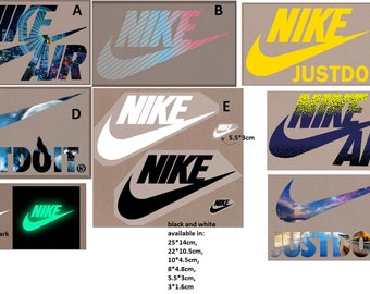 10 PIECES !!! Free Shipping Nike Top quality Heat Press Iron on Patches Embroidery Emblem Logo Brand Badge different sizes and colors