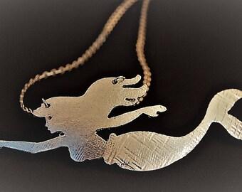 Mermaid ARIEL aluminium-steel necklace