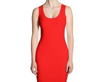 Red Sublimation Cut & Sew Dress