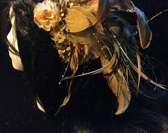 Steampunk Feather Headband