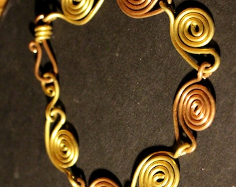 Bracelet in Copper and Brass