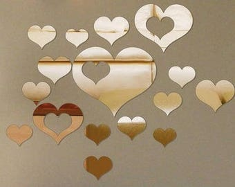 Heart Shaped Mirror Decals