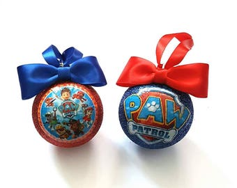 Paw Patrol Christmas Tree Baubles/Decorations - set of 2
