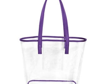 Purple Stadium Bag! Perfect for Clemson Games or Furman Palladins!! Monogramming Available!