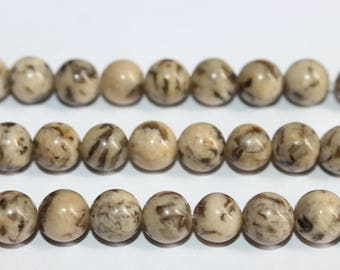 15 Inches Full strand,Natural Feldspath Graphic smooth round beads 8mm beads,loose beads,semi-precious stone