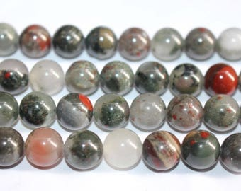 15 Inches Full strand,Natural Afican Bloodstone Smooth round beads 6mm 8mm 10mm 12mm ,loose beads,semi-precious stone
