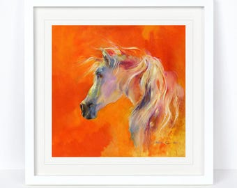 A Quiet Moment - Horse Print - Limited Edition from an Original Sheila Gill Watercolour. Fine Art, Giclee Print,Hand Painted,Home Decor